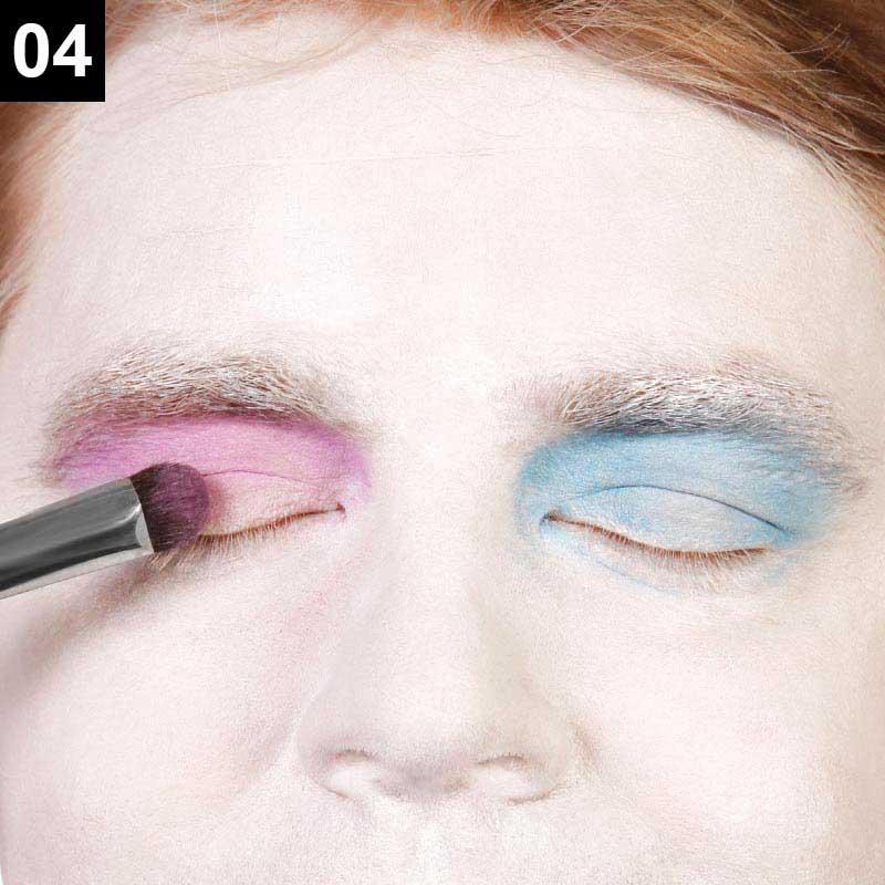 Verrückter Hutmacher Make-up Anleitung Schritt 4