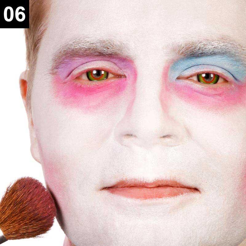 Verrückter Hutmacher schminken Schritt 6