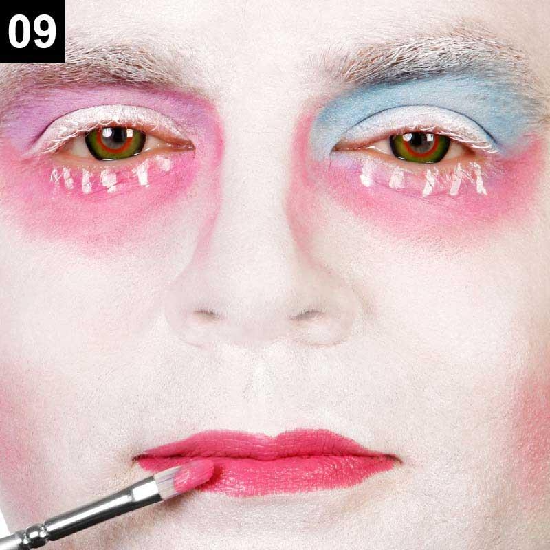 Make-up Anleitung Verrückter Hutmacher Schritt 9