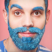 Glitter Beard Make-up Festival Schminktipp