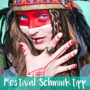 Festival Schminktipp: Indianer Streifen Make-up