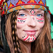 Indianer Make-up Festival Schminktipp