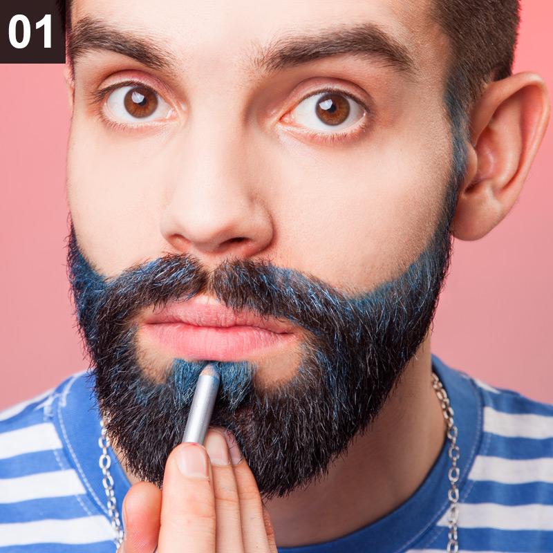 Schminktipp Glitter Beard
