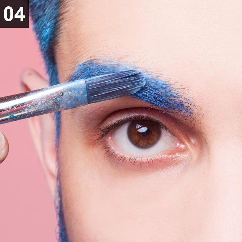 Glitter Beard Make-up Anleitung Schritt 4