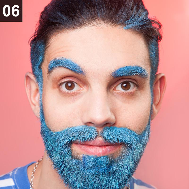 Glitter Beard schminken