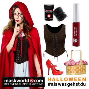 Rotkäppchen Kostüm Set