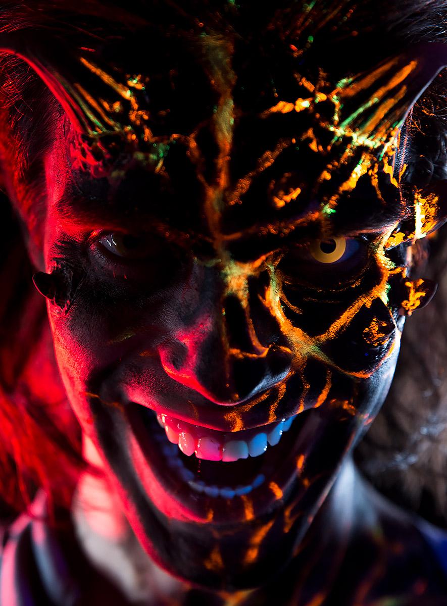 Halloween Schminktipp Lavadämon