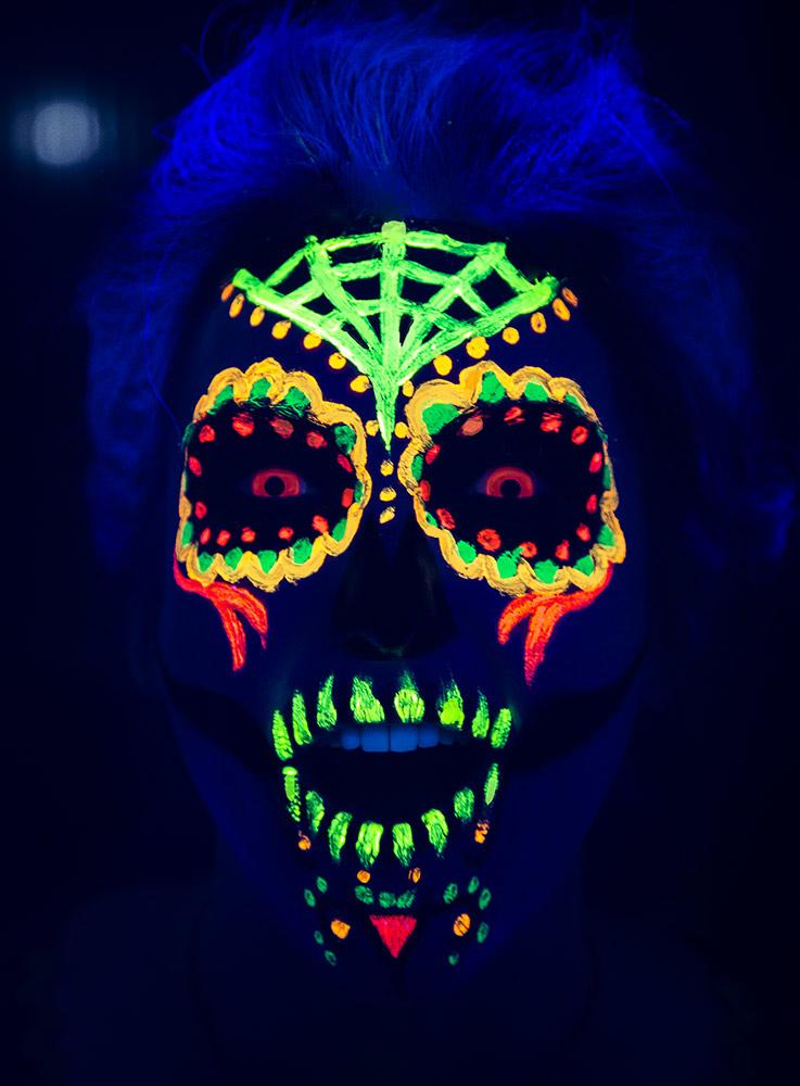 UV Schminktipp Sugar Skull