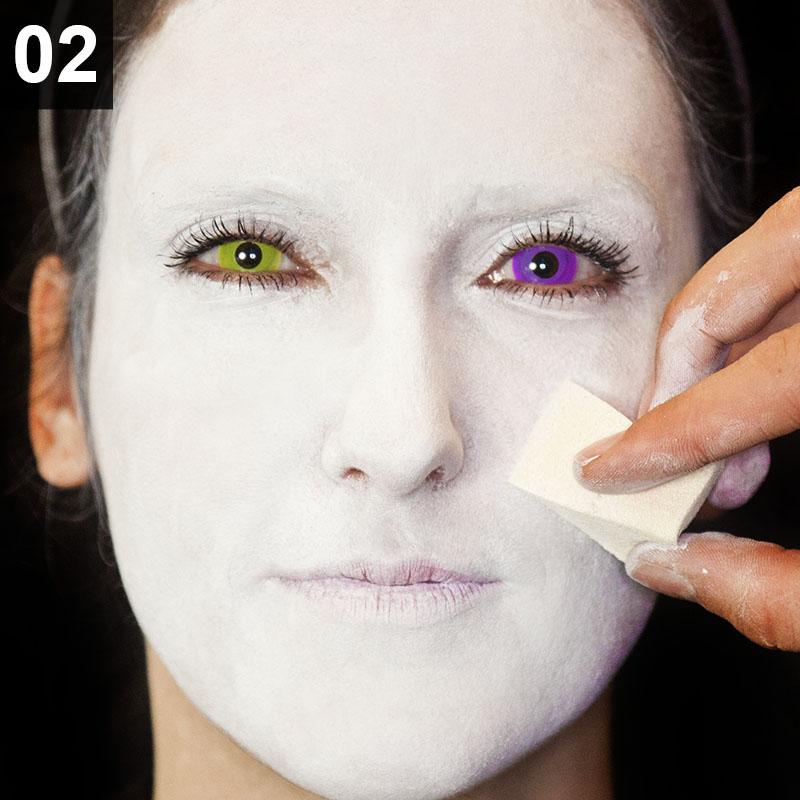 Halloween Make-up Tutorial: Punk Harlekina