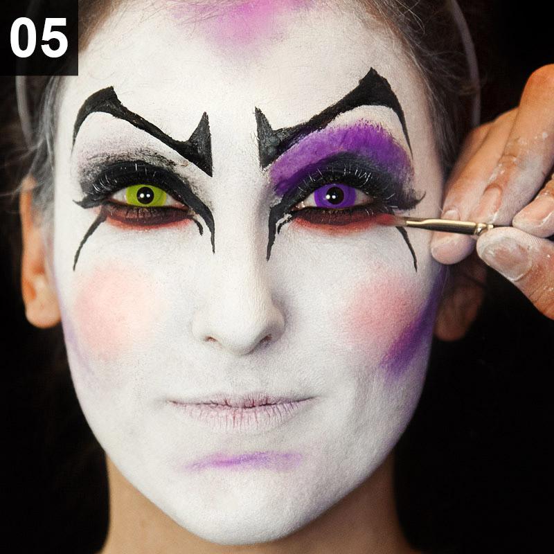 Halloween Make-up Tutorial Punk Harlekina