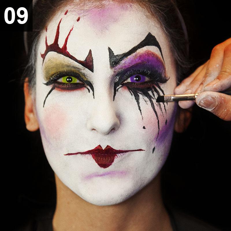 halloween schminktipp Punk harlekina