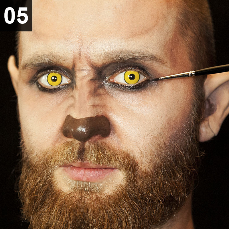 Halloween Make-up Tutorial Hipster Werwolf