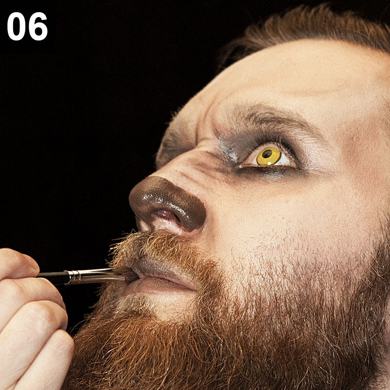 Halloween Make-up Anleitung Werwolf