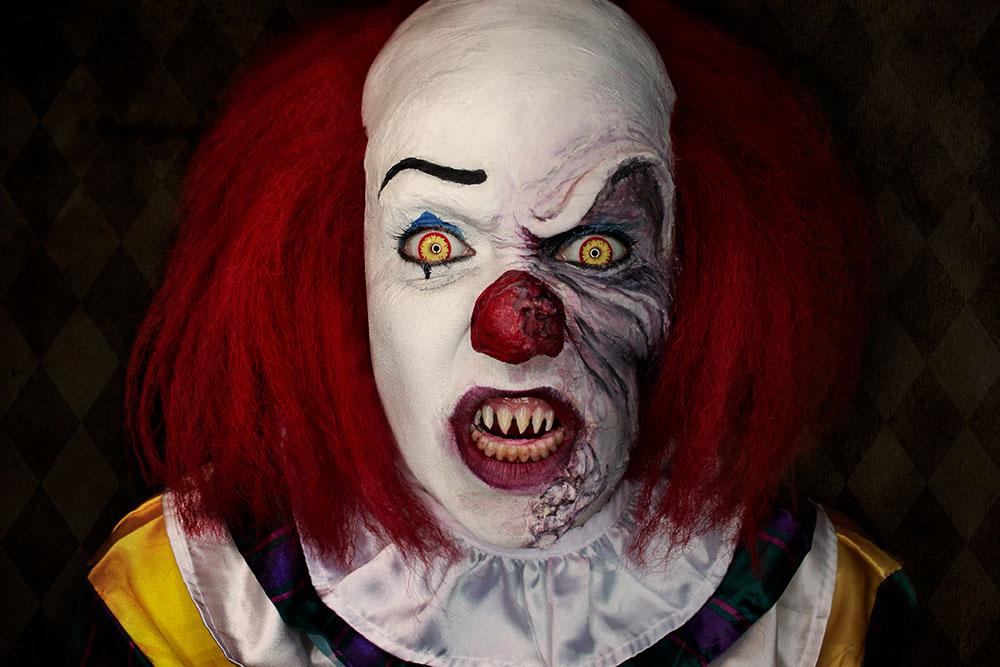 Halloween schminktipp original pennywise tim curry 1990 for Clown schminktipps