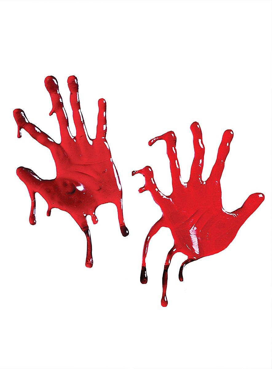 Blutige Hände Fensterdeko