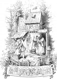 Ludwig Richter, Hänsel und Gretel vor dem Hexenhaus