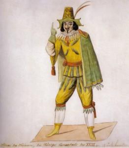 Hofnarr des Königs Carneval, Köln 1823