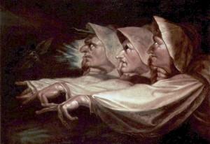 Johann Heinrich Füssli - Die drei Hexen, 1783