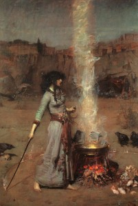 John William Waterhouse - Magic Circle, 1886