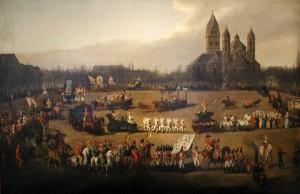Köln, Rosenmontagsumzug auf dem Neumarkt, Simon Meister 1836
