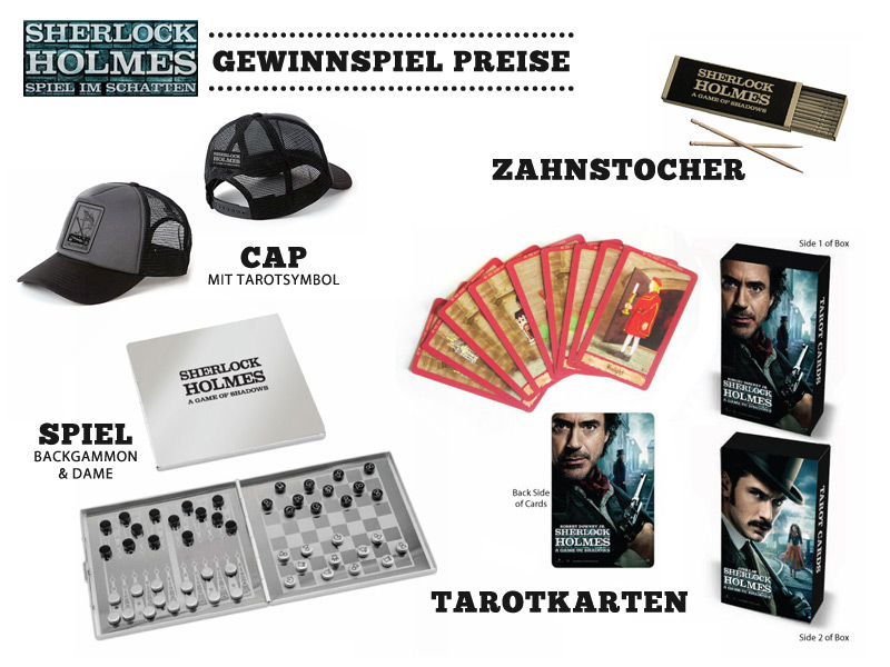 gewinnspiel zum kinostart von sherlock holmes 2. Black Bedroom Furniture Sets. Home Design Ideas