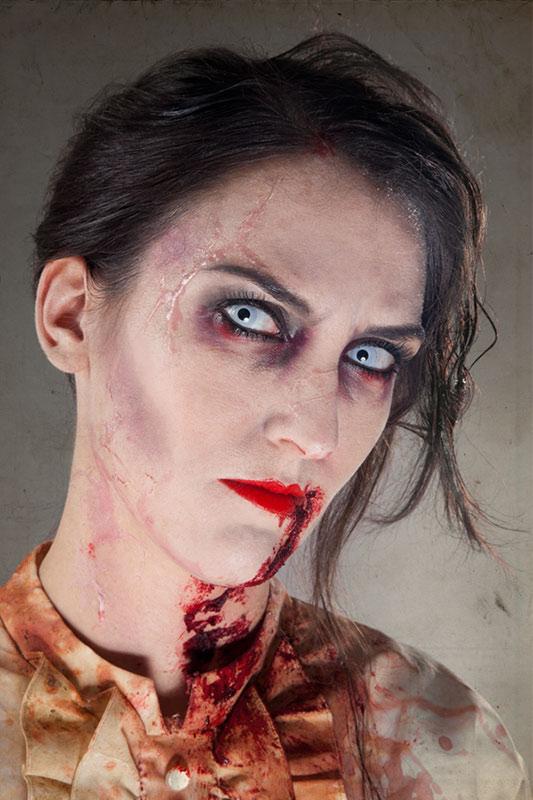 halloween schminktipp der klassiker zombie make up. Black Bedroom Furniture Sets. Home Design Ideas
